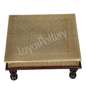 Wooden Square Gold Foil Bajot large