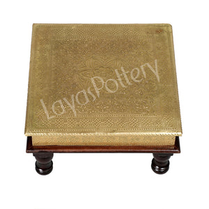 Wooden Square Gold Foil Bajot medium