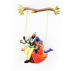 Wrought Iron RadhaKrishna Wall Hanging Small