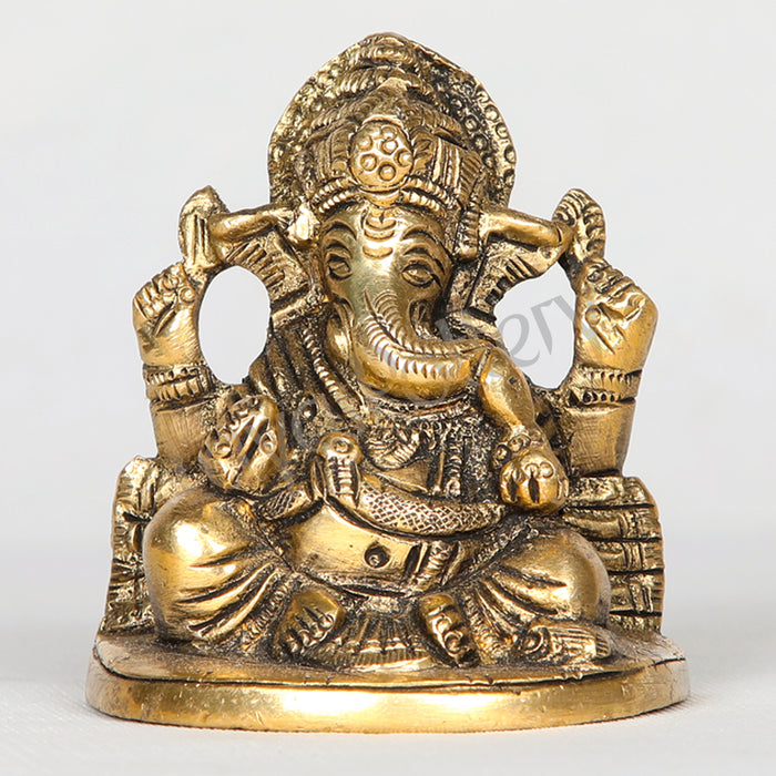 "Brass Ganapathi in Sitting posture 5"" tall"