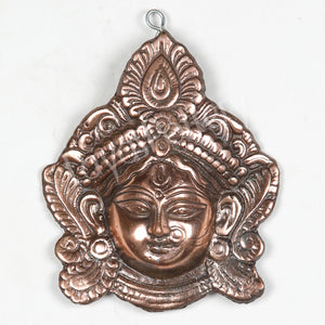 Black Metal Kali Face Plate Wall Hanging Small