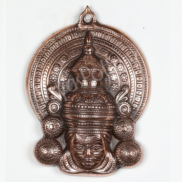 Black Metal Kathakali Face Plate Medium