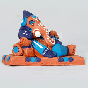 Clay Sofa Ganesha Blue