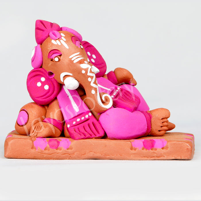 Clay Sofa Ganesha Pink