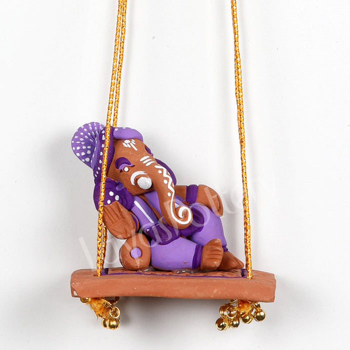 Clay Swing Ganesha Violet