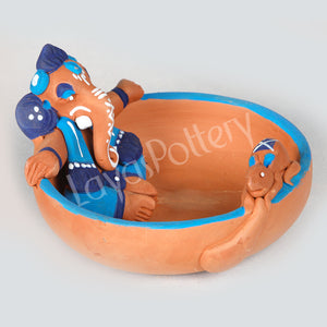 Clay Uruli Ganesha Blue