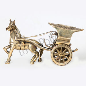 Brass Horse Cart Collectible