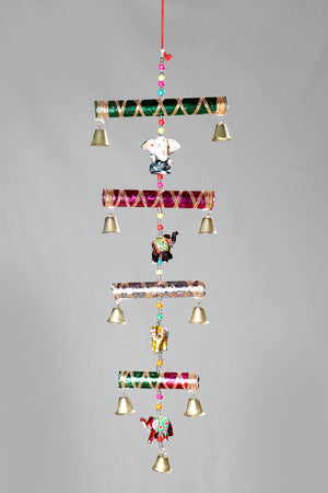 Decorative Hanging Tiered with Elephants and Ganesh