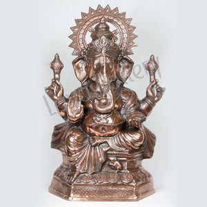 Black Metal Ganesha Statue 2.5ft tall