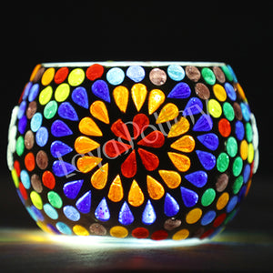 Flower petals Mosaic Design Tea Light Holder