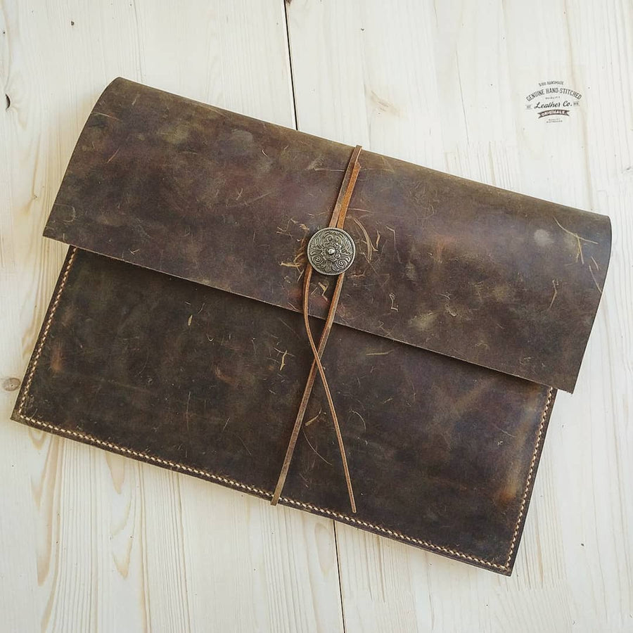 Retro Distressed Leather Sleeve for New MacBook / Macbook Air / MacBook Pro Retina