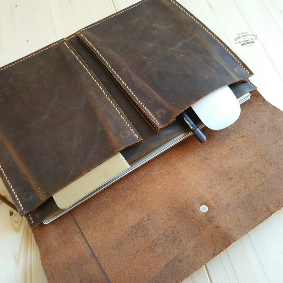 Handmade Leather New MacBook / Macbook Air Bag Case Sleeve