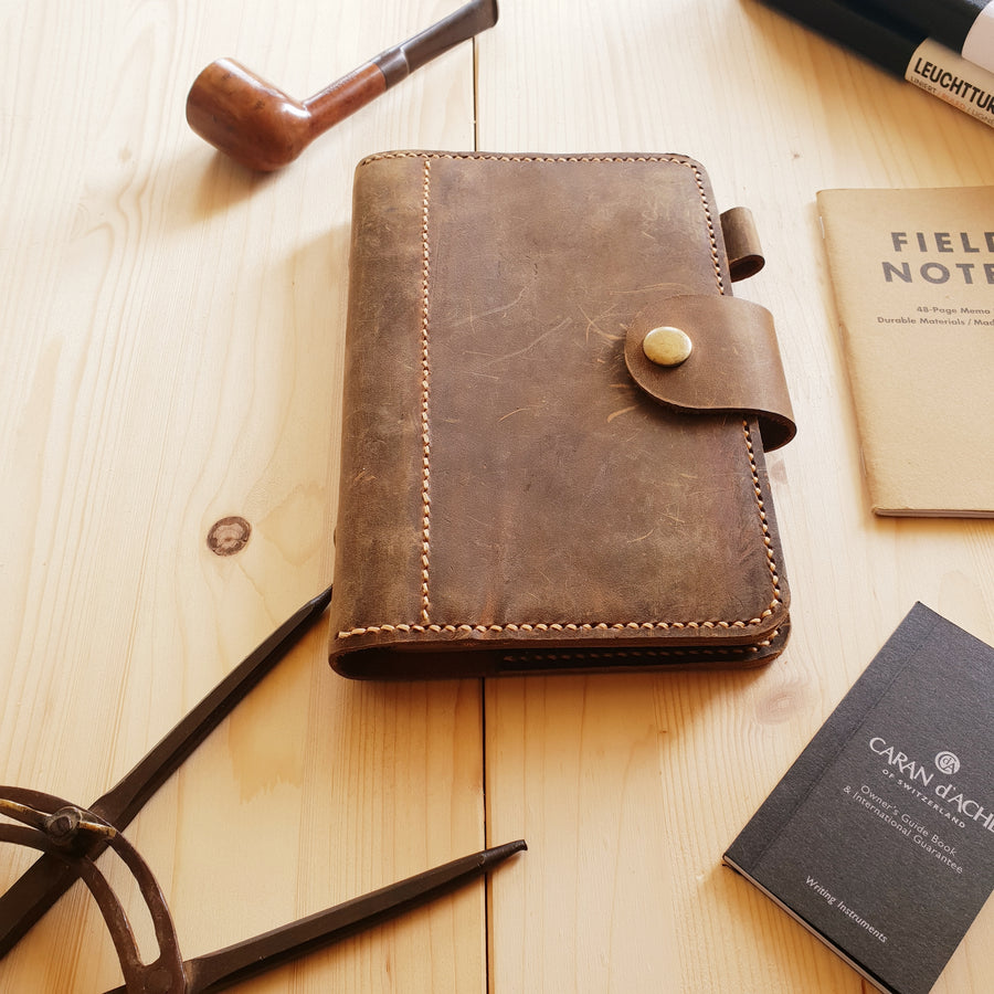 Personal Size Planner - Leather Planer a6 Size Notebook