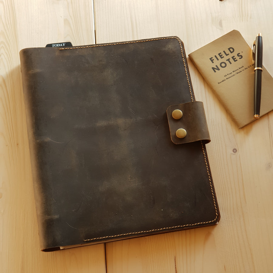 Leather 3 Ring Binder Portfolio