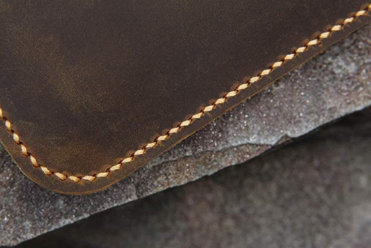 Distressed Leather Macbook Case Sleeve Portfolio Bag - Vintage Leather Co