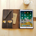 Leather iPad Pro Portfolio Case with Apple Pen Holder – iPad Stand Cover