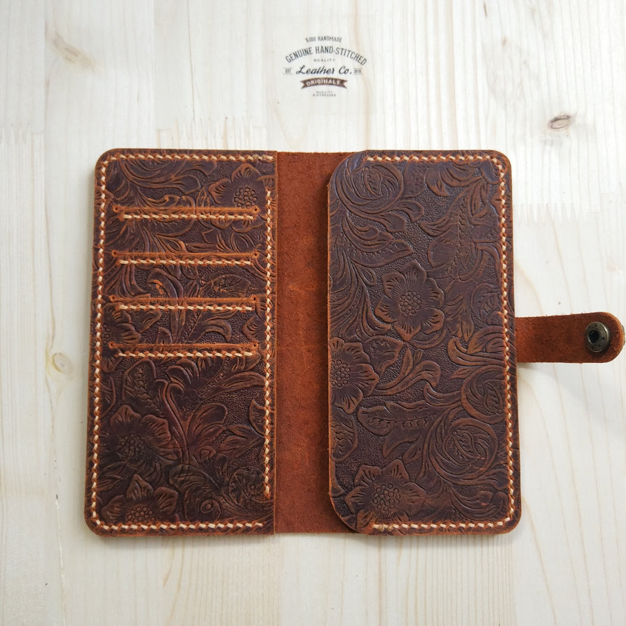 Leather iPhone Wallet Case for Women