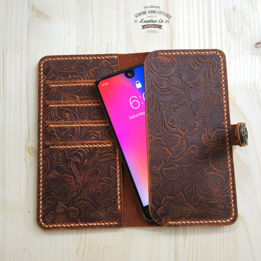 leather iphone case wallet for women