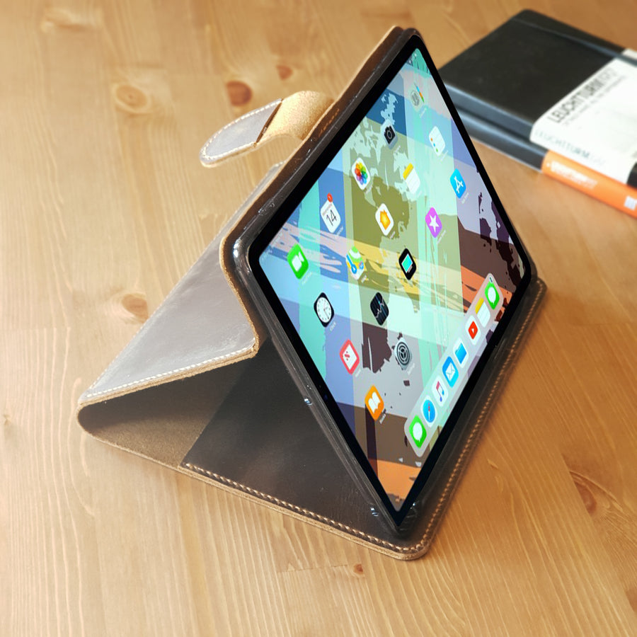 Leather iPad Organizer / Leather iPad Stand Cover Case for New iPad Pro