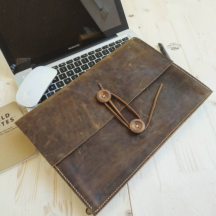 Genuine Leather Macbook Sleeve Case for New Macbook