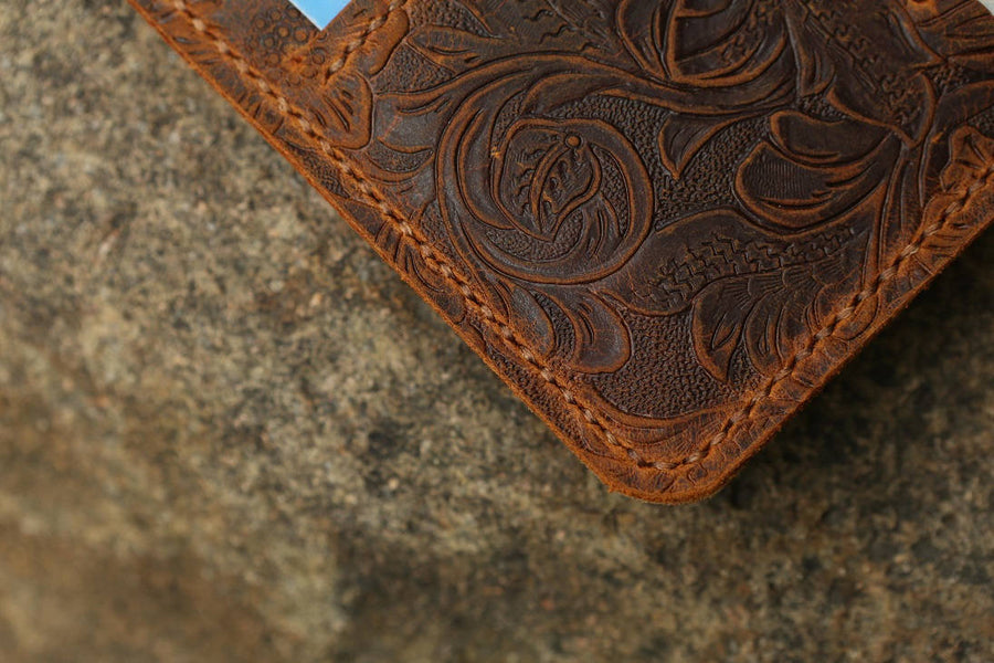 Women Embossing Leather iPhone 8 Wallet Case - Vintage Leather Co