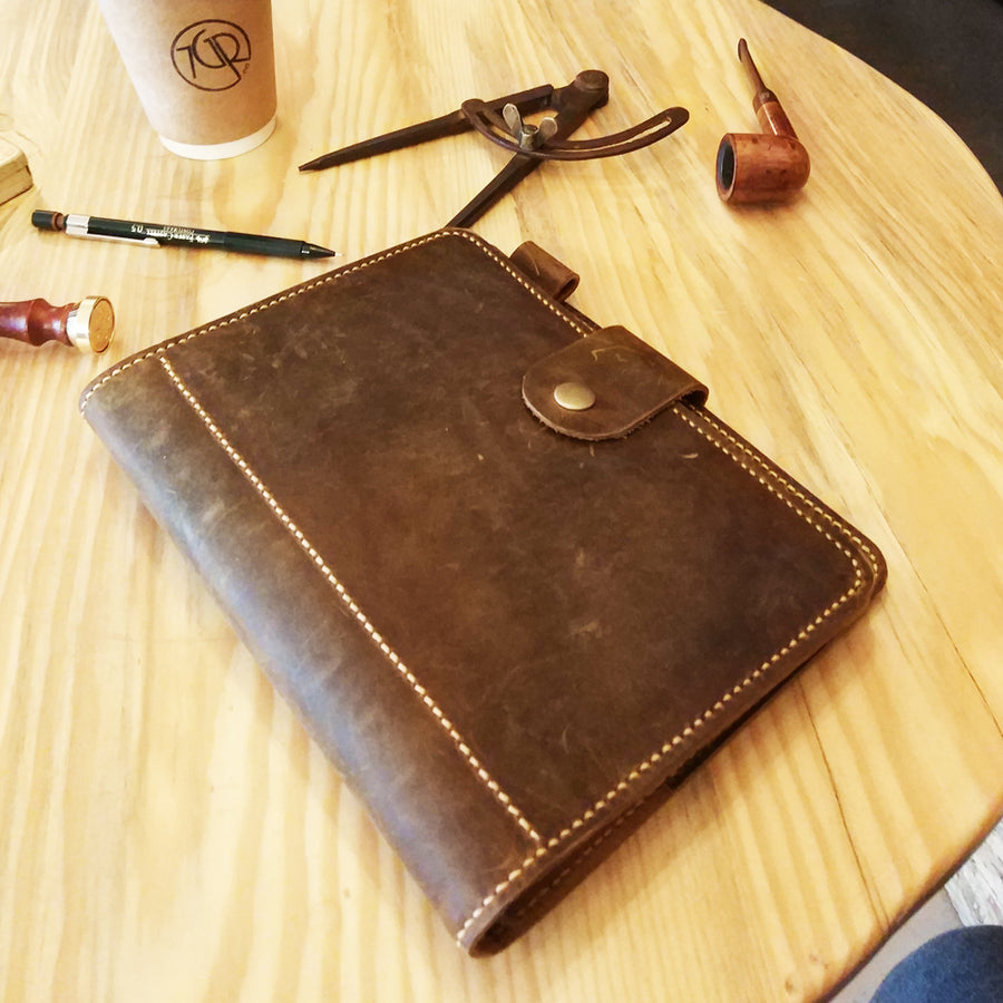 Vintage Leather Travel Journal A5 Size Agenda - Vintage Leather Co