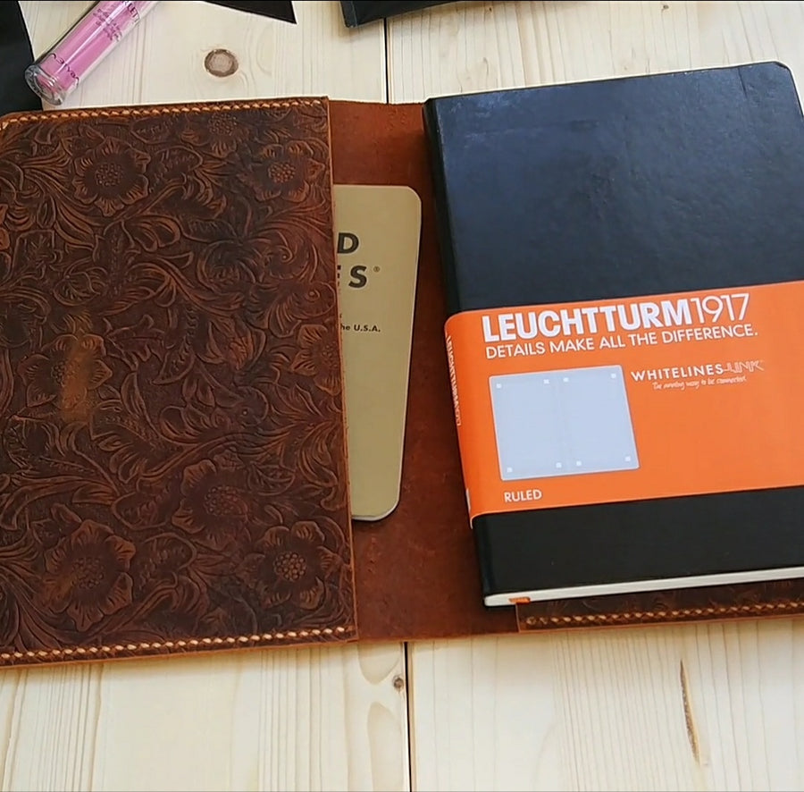 Genuine Leather Embossing Leuchttrum 1917 Cover - Vintage Leather Co