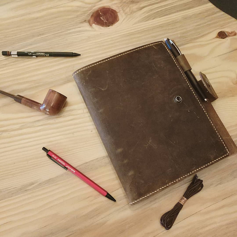 Genuine Leather Planner Journal Agenda Cover - Vintage Leather Co
