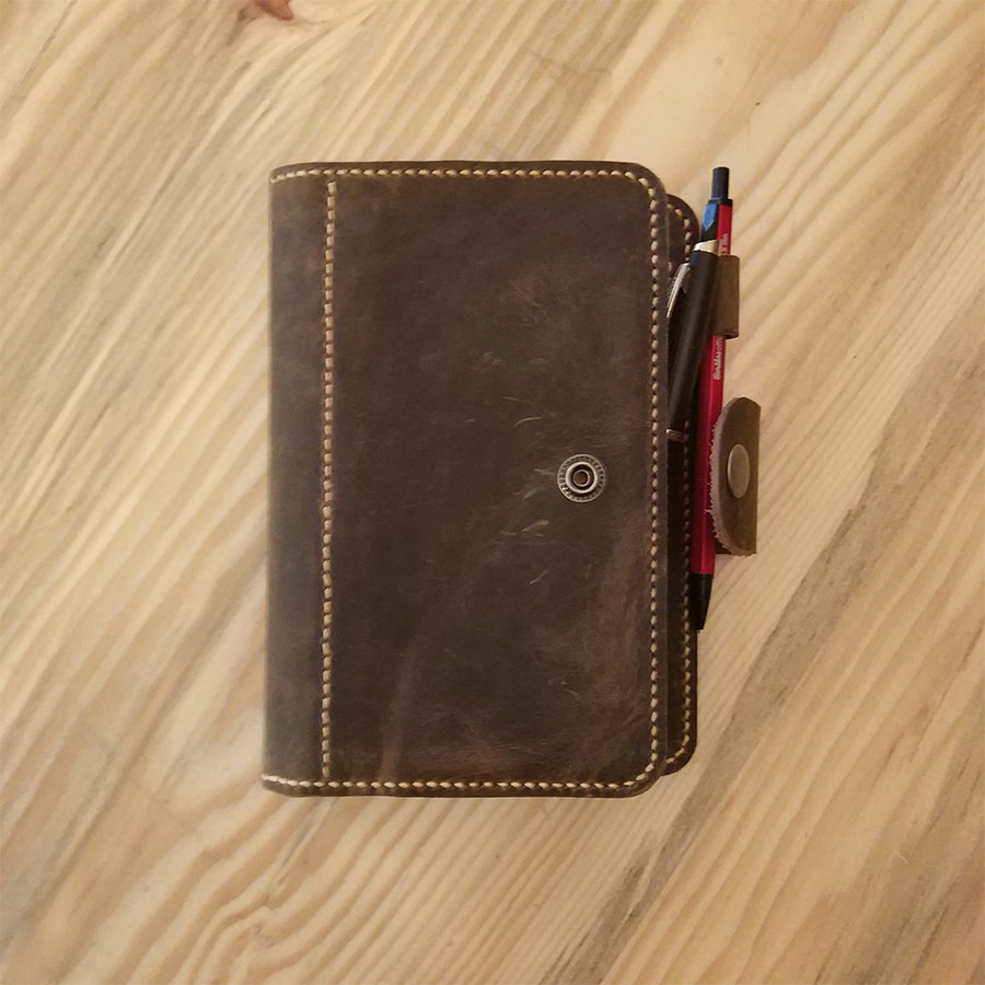 Personalized Leather Travel Journal A6 Size - Vintage Leather Co