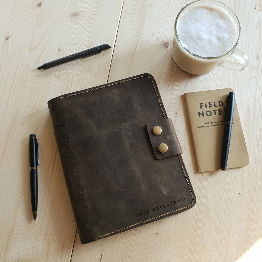 Leather Planner Cover a5