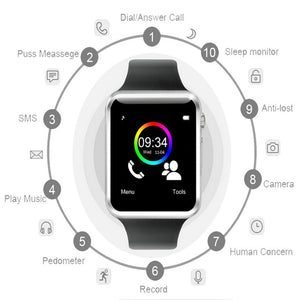 Detachable Pedometer Smart Watch