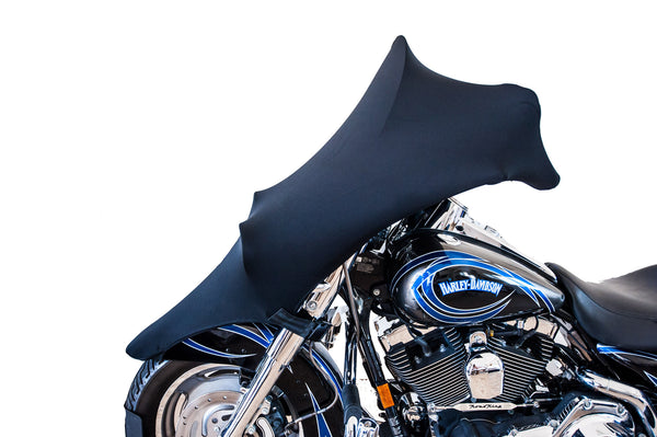 Harley Davidson Covers >> Road King Covers - Windshield – Stretch Fit Motorcycle Covers | SKNZ Custom Stretch Covers