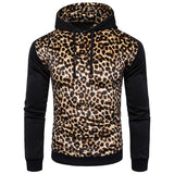 England Leopard Print Pullover Cotton Men's Hoodies