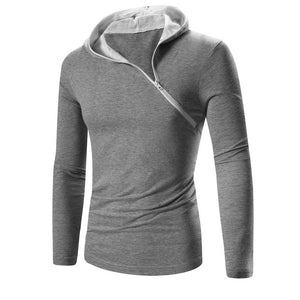 Pure Color Hooded Comfortable Brief Men's Hoodie
