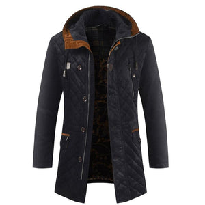 Brief Thickened Long Sleeve Men's Parka Jacket