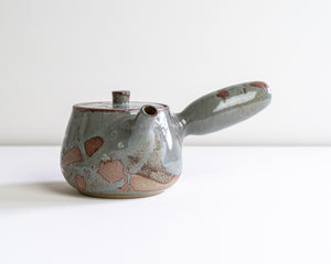 Side Handle Tea Pot - Ash Blue