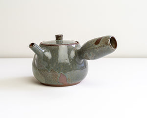 Side Handle Tea Pot - Ash Blue #2