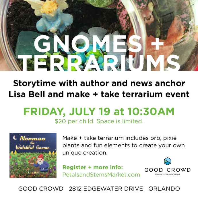 Gnomes and Terrariums Storytime/Make-N-Take