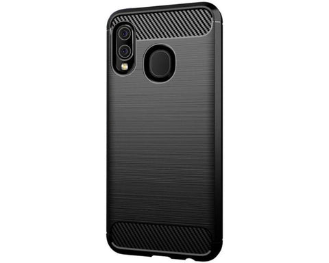 Husa Silicon Forcell, Carbon, Samsung Galaxy A20E, Negru