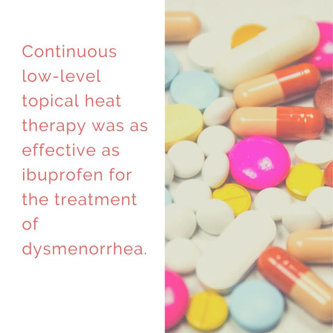 Over the counter medication is just as effective as heat therapy for period pain relief