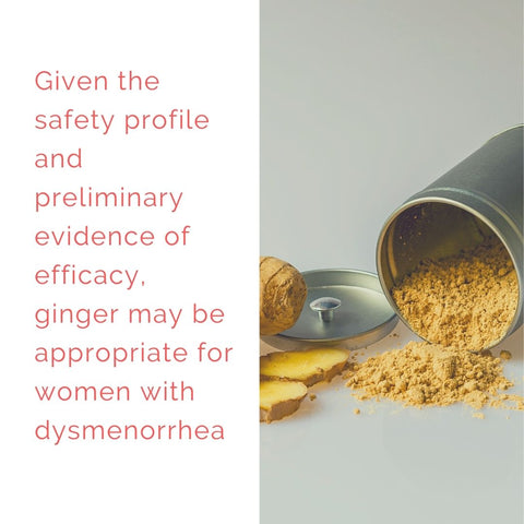 Ginger has been shown to be as effective as Ibuprofen / NSAIDS