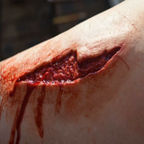 Large Slash Wound / Trauma / Laceration / Latex Free / Makeup - MonsterFX