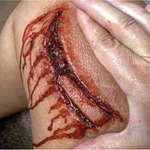 Machete Slash Wound / Trauma / Laceration / Latex Free / Makeup - MonsterFX