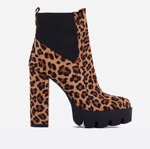 Leopard Print - Ankle Boots - saucedoutfittersnyc