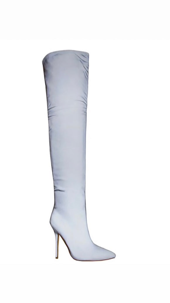 Reflective Knee - High Boots - SAUCED