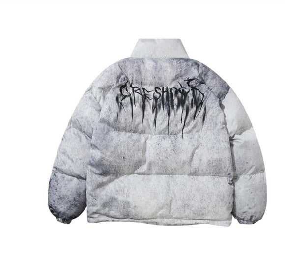 SAUCED. Unisex puffer Jacket - White - SAUCED