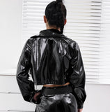 Dang Girl - Leather Jacket - SAUCED