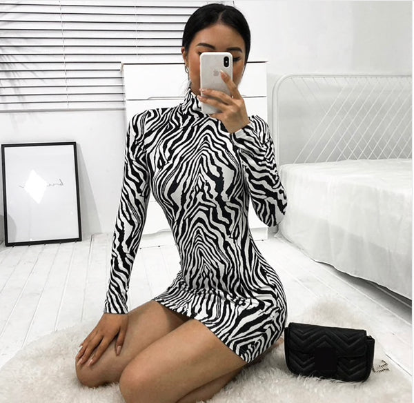 Love my Print - Zebra Print Dress - saucedoutfittersnyc