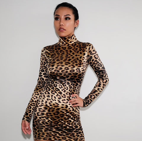 Let's Stand Out - Leopard Dress - saucedoutfittersnyc