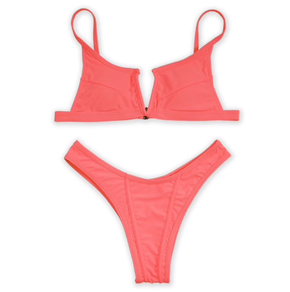Taste the Flavor - Bikini Set (Peach) - saucedoutfittersnyc